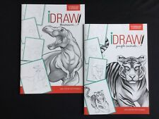 Learn to Draw Dinosaurs & Jungle Animals Easy Instructions FREE 1st Class Shippi