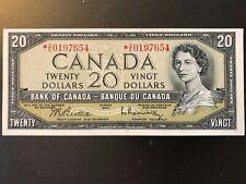 New listing Rare 1954 Canada 20 Dollar Banknote Beattie & Rasminsky *V/E Series