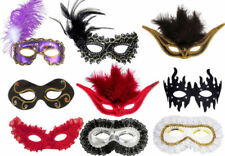 Maschere piuma per carnevale e teatro oro