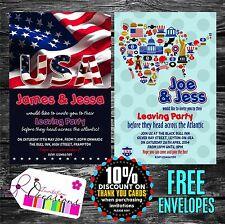 Invitaciones Fiesta Personalizadas dejar emigrar Usa X 5