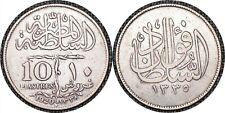 EGYPT AH1338 (1920) H 10 10 Qirsh / Piastres - Fuad I KM #327 -TKT