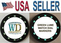 Watch Green LUME Dial Hour Markers 12 Indices Indexes Numerals Bars Parts Repair