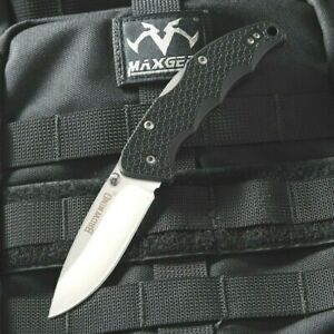 BROWNING Buckmark BLK Handle Hunting Camping Survival Knife 440 Stainless Steel