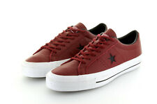 Converse Cons One Star Ox Red Bordeaux Block Leather Lunarlon Gr. 42,5/43,5 US 9