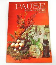 Coca-Cola Coke Rupture pour Vivant Magazine Livre USA Edition Automne 1964