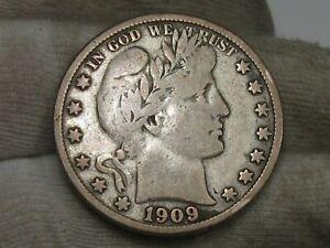 1909-s Fine Barber Half Dollar. #36