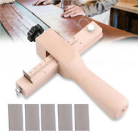 Wooden Adjustable Strip and Strap Cutter Craft Tool Leather Hand Cutting Tools H