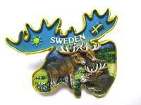 Elch Moose Magnet Schweden Souvenir Poly Sweden 3 er Gruppe