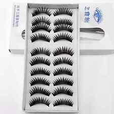 10 Pair Natural Long Thick Soft False Eyelashes Handmade - Australian Stock