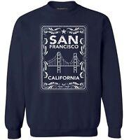 Unisex California Sweatshirt Crewneck San Francisco