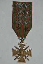 CROIX DE GUERRE 1914/1917-6 CITATIONS.FRENCH WAR CROSS 1914/1917-GUERRE 1914/18