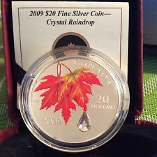 2009 Canada Crystal Raindrop $20 Fine Silver Coin