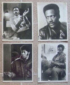 "SHAFT US (4) Stills 8x10"" Movie Poster All Black Cast Roundtree Film 1971"