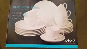 9 VIVO NEW FRESH BASIC Villeroy & Boch Kaffeetasse Cappuccino + Untert. weiß neu