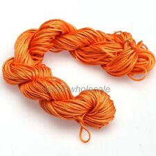 1 Hank ( 27 Metres ) Nylon Braided Braiding Cord Thread 2mm Kumihimo Orange