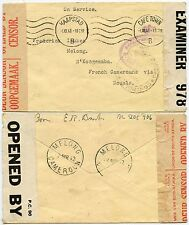 SOUTH AFRICA to MELONG FRENCH CAMEROON OFFICIAL PAID CROWNED CENSORED 1941 WW2