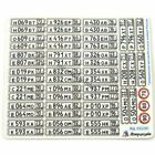 Microdesign 035391 Color photoetched russian license plates. Auto all types 1/35