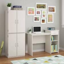 Storage Cabinet Kitchen Pantry Organizer Furniture Cupboard Shelf Bathroom White