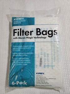Genuine KIRBY Micron Magic Vacuum Filter Bags F/Twist-Style (6-Pack) NEW/SEALED