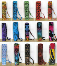 15 Pc. Mix Lot Of Yoga Mat Bag Printed Gym Mat Carrier Bags With Shoulder Strap