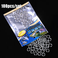 3#-8# Double Stainless Steel Swivel Snap Fishing Split Rings Fish Connector