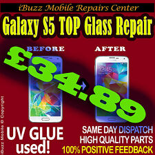 Samsung S5 CRACKED BROKEN TOP GLASS SCREEN REPLACEMENT REPAIR SERVICE
