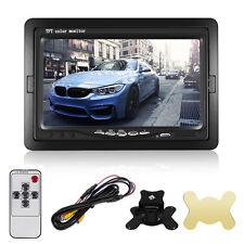 "7"" TFT LCD Digital Color Screen Car Monitor for Backup Rear View Camera DC 12V"