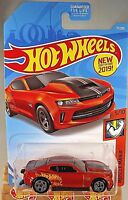 2019 Hot Wheels #71 Muscle Mania 5/10 '18 COPO CAMARO SS Burnt Orange w/Gray 5sp