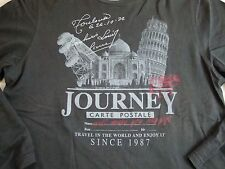 Journey Carte Postale Postcard Tourist Wrl Traveler Long Sleeve T Shirt M