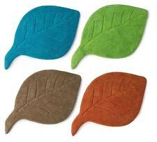 Luxury Leaf Design Bath Mat 100% Cotton Washable Non Slip Base Bathroom Mat