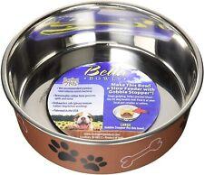 Loving Pets Metallic Bella Bowl Copper Color Xl No skid tip noise metal inner