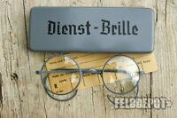 WK2 WH Dienst - Brille Dienstbrille Nickelbrille inkl. Etui WWII Army Glasses