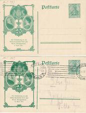 DR, 5 Pfg. Germania, 2 Privatganzsachen, Silberhochzeit des Württ. Königspaares