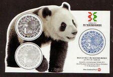 NEW ZEALAND 2011 MNH SS, Odd Shape, CHINA Panda & Kiwis, Birds, Animals -Z6