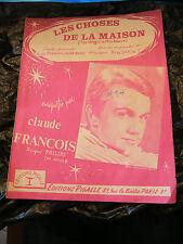 Partition Les choses de la maison Claude François 1964