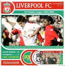 Liverpool 2002-03 Leeds U (Diao v.Harry Kewell) Football Stamp Victory Card #208