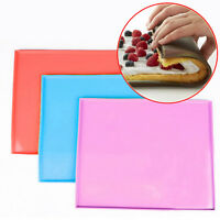 Silicone Square Sushi Mats Pizza Pan Swiss Cake Roll Chocolate Mold Baking Tool~