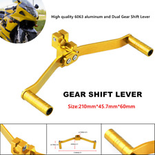 Motorcycle Buggy Modified Yellow 6063 Aluminum Motorbike Double-head Shift Lever