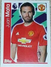 196 Juan Mata MANCHESTER UNITED 2017 Topps Merlin Premier League sticker