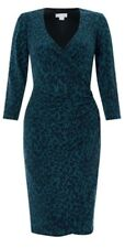 Monsoon Josie Teal Animal Print Wrap Dress Size 20