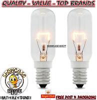 2 x 40w SES E14 Clear Lamp Tubular Cooker Hood Extractor Light Bulb Pack 350L