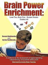 Brain Power Enrichment: Level Two, Book One-Student Version Grades 6-8: A Wor...