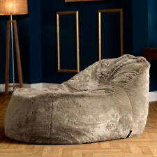 icon® Dream Lounger Faux Fur Bean Bag - Giant Beanbag Recliner Day Bed