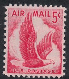 Scott C50- Eagle in Flight- MNH 5c 1958- unused mint Airmail stamp
