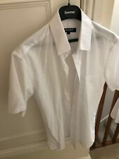 """1 Mens 15"""" Pilot Shirt Short Sleeve White School Police Security Worn Once"""