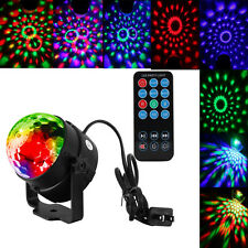 US RGB LED MP3 DJ Disco Party Crystal Magic Ball Stage Light Remote Controller