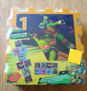 "Teenage Mutant Ninja Turtles Foam Floor Mats 8 Pcs 12""x12"" Boys Girls Puzzle NEW"