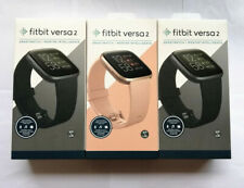 Fitbit Versa 2 Smart Watch Fitness Activity Tracker Whole set Black Pink Silver