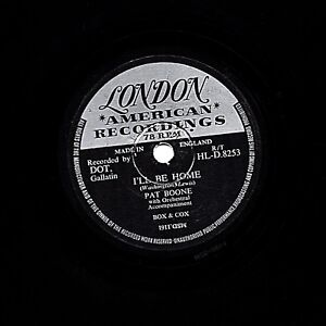CLASSIC 1956 UK#1 PAT BOONE  78  I'LL BE HOME / TUTTI FRUTTI  LONDON HLD 8253 E-