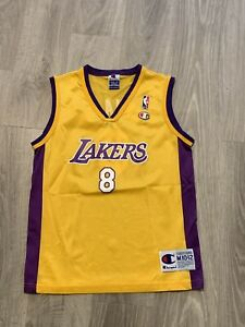 Kobe Bryant Vintage Champion Los Angeles Lakers Jersey Youth Size M 10-12